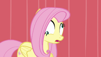 Fluttershy standing with lazy eyes S2E19