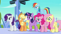 Mane Six hears Flurry Heart about to sneeze S6E2.png