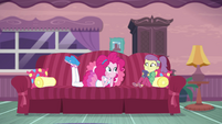 Pinkie Pie asks Lily Pad about her book EGDS3