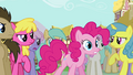 Pinkie Pie claiming herself to be the real Pinkie Pie S3E03.png