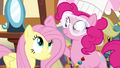 Pinkie Pie patting on Fluttershy's mane S4E18.png