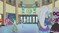 Rainbow Dash bounces a soccer ball through the hall EG2.png