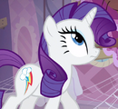 Rarity with Dash's cutie mark ID S3E13