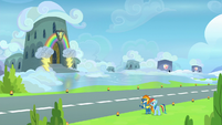 Spitfire shows Rainbow the Wonderbolts' barracks S6E7