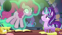 Starlight uses magic to stop and silence Pinkie S6E21