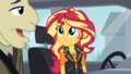 Sunset Shimmer listening to Mr. Doodle CYOE5c.png