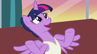Twilight Sparkle -what makes you say that-- S7E10