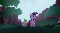 Twilight e Spike andam pela Floresta da Liberdade T4E03