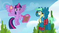 Twilight points Sky Stinger at obstacle course S6E24