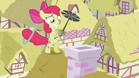 Apple Bloom with a chimney brush S2E06