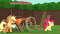 Apple Bloom with paint brush; AJ with paint remover S6E14.png