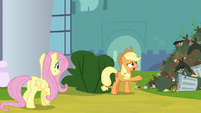 "Applejack ""clean up all this garbage"" S9E13"