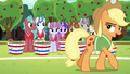 Applejack addressing the unicorns S6E18.png