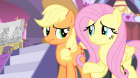 Applejack and Fluttershy confused S4E13