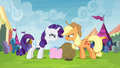 Applejack and Rarity glaring at each other S4E22.png
