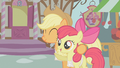 Applejack hugs Apple Bloom S1E12.png