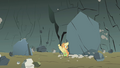 Applejack nearly flattened by a boulder S1E07.png