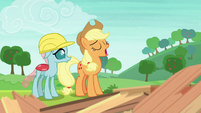 Applejack sighing heavily S8E9
