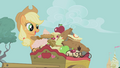 Applejack with her food S01E03.png