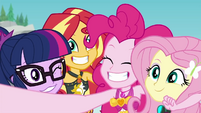 Equestria Girls smiling for the camera EGDS17