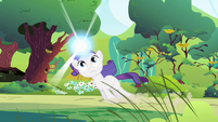 Filly Rarity dragged through woods S1E23