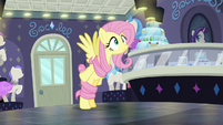 Fluttershy gets tangled in her mane S8E4