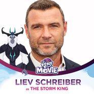 Liev Schreiber as the Storm King