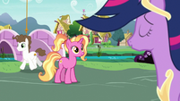 Luster Dawn listens to Twilight singing S9E26