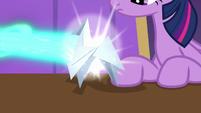 Napkin blasted with Starlight's magic S9E20
