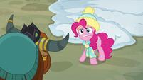 """Pinkie Pie yak derp """"gift..."""" MLPBGE"""