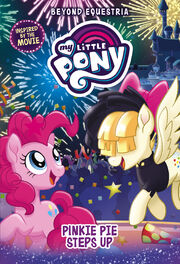 Portada del libro My Little Pony Pinkie Pie Steps Up