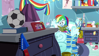 Rainbow Dash reading Daring Do in her room SS12