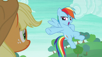 Rainbow Dash striking a third pose S8E9