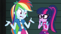 Rainbow Dash thinks she did nothing wrong EGS2