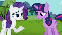 Rarity will Princess Celestia S3E10