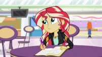 Sunset Shimmer making a side smirk EGS3