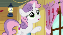 Sweetie Belle --I don't think Rarity would let me travel-- S6E4