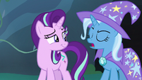 Trixie shakes her head and says -uh-uh- S7E17