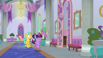 Twilight and Spike race past Citrine Spark S9E4