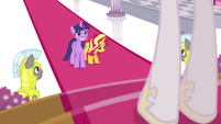 Twilight and Sunset appear before Celestia EGFF