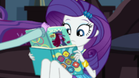 Twilight catches Rarity reading a fashion magazine EGDS6