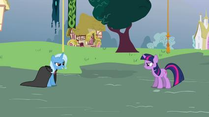 Twilight e Trixie prestes a duelar T03E05
