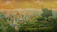 Vines from the Everfree creep toward Ponyville S9E2