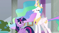 "Celestia ""causing any more trouble"" S8E26"