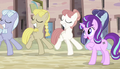 Equal ponies dancing in sync S5E1.png