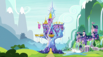 Exterior view of Castle and School of Friendship S8E21