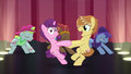 Feather Bangs and Sugar Belle twirling around on stage S7E8.png