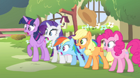 Fluttershy's friends shocked S4E14