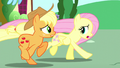 "Fluttershy ""about how her friends almost ruined the opening"" S6E9.png"
