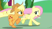 "Fluttershy ""about how her friends almost ruined the opening"" S6E9"
